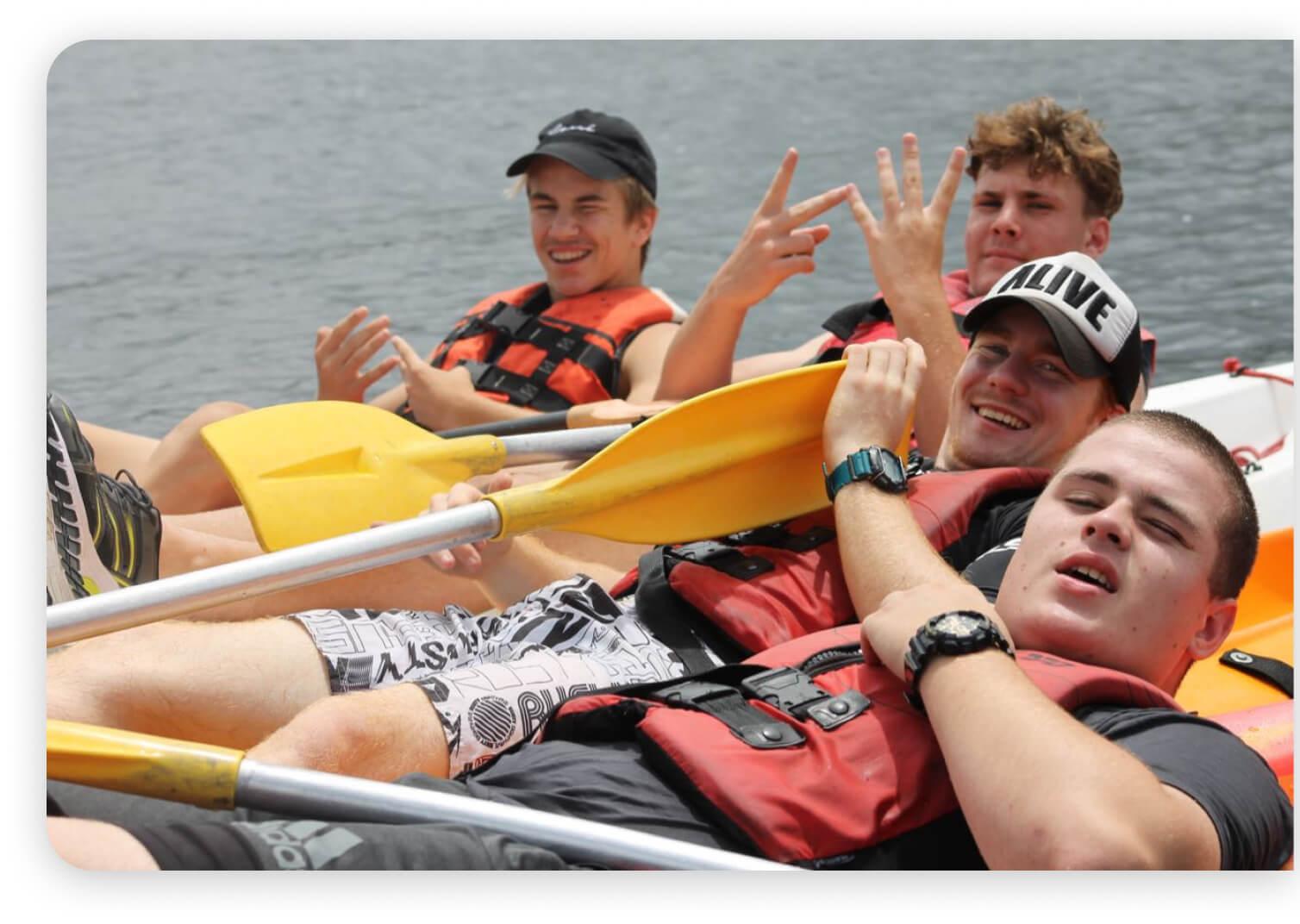 Leadership Camp Canoeing